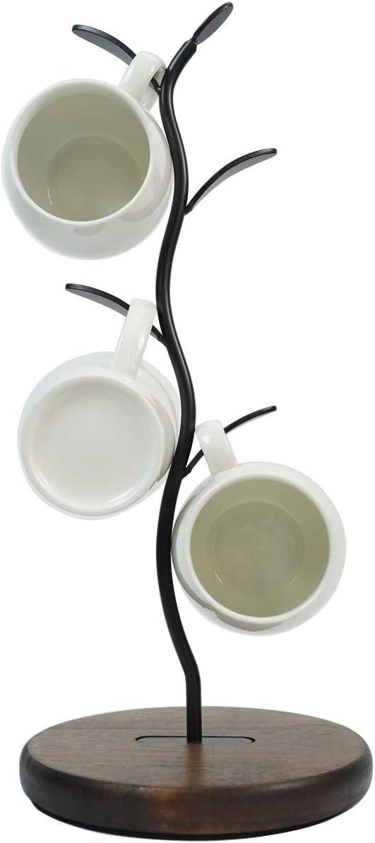 Mug Holder Stand, Countertop Coffee Mug Tree, Coffee Mugs Tea Cup Organizer Storage Rack for Bar Counter Kitchen