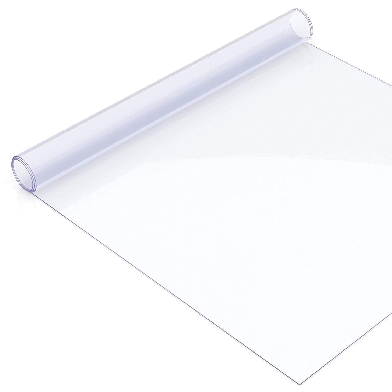 柔らかいガラスポリ塩化ビニールのテーブルクロス防水のはじり防止耐油プラスチック透明クリスタルプレートコーヒーテーブルテーブルマット,1.5mm,90*120cm 90*120cm 1.5mm B07SQY846G