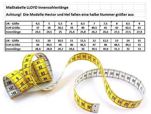 Giles 26 51 LLOYD Velourleder LLOYD braun 601 bordo Gummisohle Fashion Schnürschuh sepia q7RwZtd