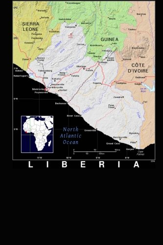 Modern Day Color Map of Liberia in Africa Journal: Take Notes, Write Down Memories in this 150 Page Lined Journal pdf epub