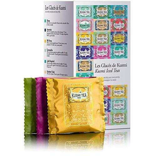 KUSMI ICED TEAS 24 enveloped muslin tea bags