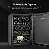 BGGME 20 Bottle Compressor Wine Cooler Freestanding Red and White Wine Cellars, Countertop Champagne Chiller with LED Temperature Display, Quiet Operation Fridge