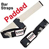 Pair PADDED Power Hand Bar Straps Weight Lifting Straps Cotton Straps Camouflage Army Colour