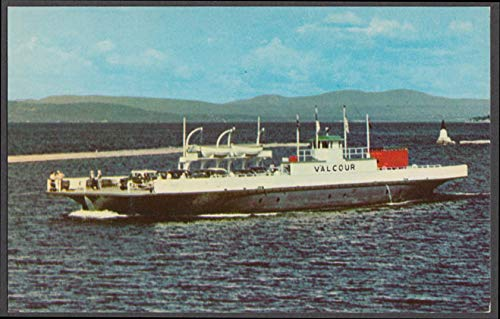 Lake Champlain Transportation M V Valcour Ferry postcard 1950s #1