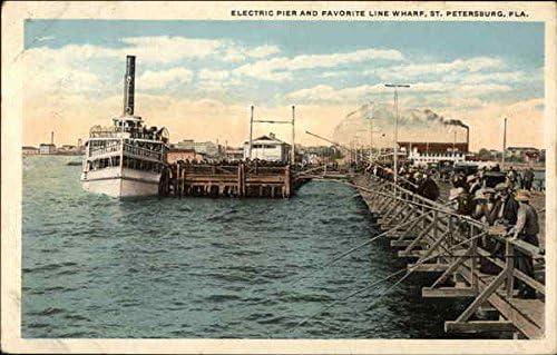 Details about  /ST PETERSBURG FLORIDA ELECTRIC PIER FISHING FAVORITE LINE WHARF POSTCARD