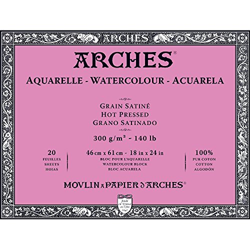 Arches Block 140Lb Hot Press 18X24 by Arches