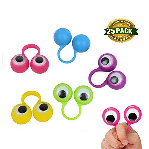 Eye Puppets - Shindel Eye Finger Puppets, Googly Eyes Rings Eyeball Ring Eye Monster Finger for Kids Party Favor Easter Toys, 25 Pcs