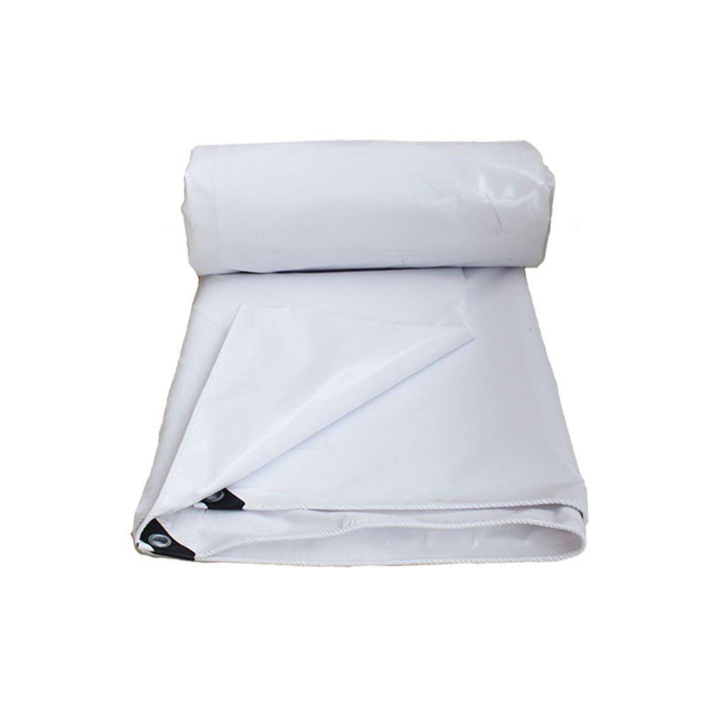 CHAOXIANG オーニング 厚い 耐寒性 シェード 耐摩耗性 耐食性 老化防止 防塵の ポリエステル 白、 600g/m 2、 厚さ 0.5mm、 16サイズ (色 : 白, サイズ さいず : 5x6m) B07D2XRGMF 5x6m|白 白 5x6m