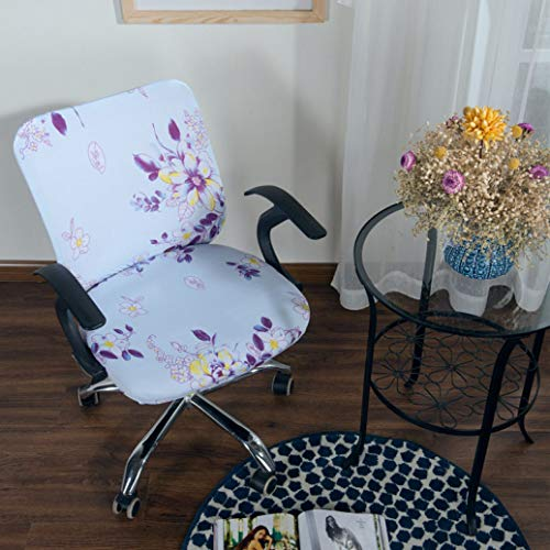 SGHOME Chair Cover Washable Convenience Spandex Printed Modern Elastic Stretch Office Computer Armchair Seat Slipcovers ()