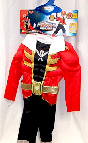 Power Rangers Megaforce Red Ranger Costume (Power Ranger Super Megaforce Red Muscle Child Costume Gloves XS 3-4T NIP)