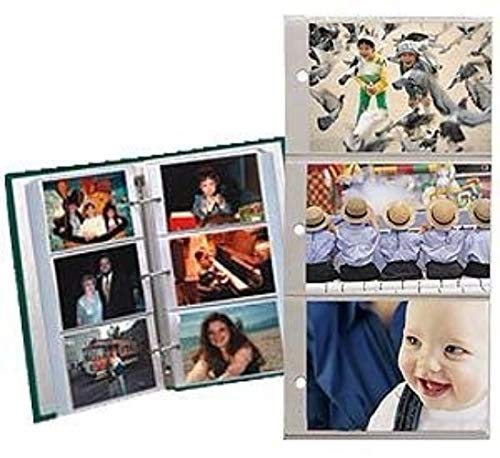 Pioneer Refill Pages for 3-Ring Photo Albums, holds 4x6- Inch Photos, Pack of 20 Pages