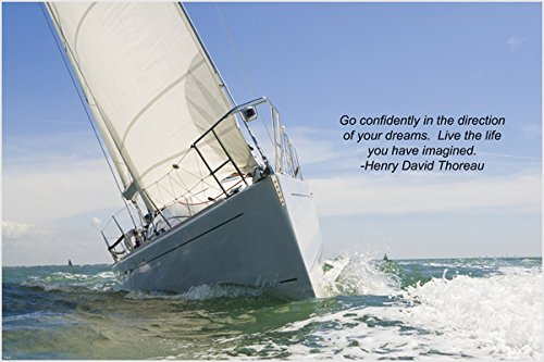 sailboat sailing inspirational poster Motivation & self confidence