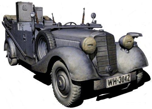 (Master Box WWII German SDKFZ 2 Type 170VK Radio Car Figure Model Building Kits (1:35 Scale))