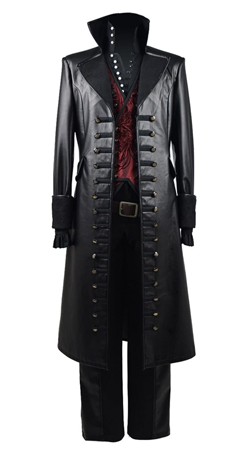 Captain Hook Red Vest Pirate Costume Once Upon a Time TV Series - DeluxeAdultCostumes.com