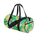 Tropical Floral Print sports Duffel Bags, Travel Gym Fitness Bag