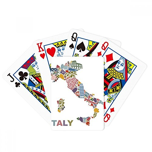Map Italy Landmark National Flag Architecture Poker Playing Cards Tabletop Game Gift by beatChong