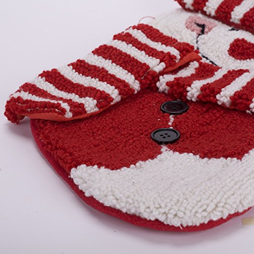 Glitzhome 20'' Handmade Hooked 3D Snowman Christmas Stocking by Glitzhome (Image #4)