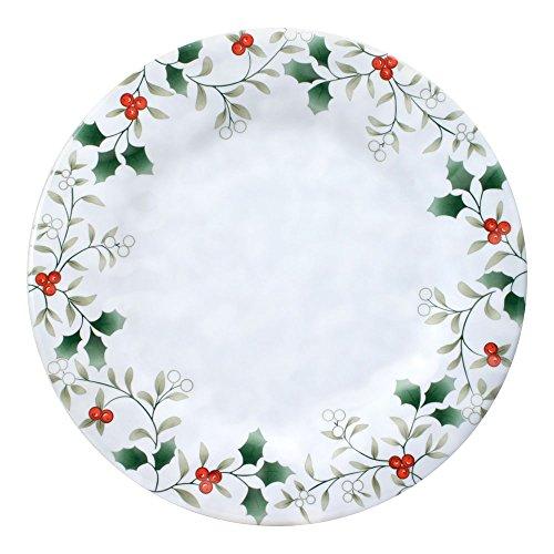 Winterberry Dessert - Pfaltzgraff Winterberry Melamine Dinner Plate (10-1/2-Inch)