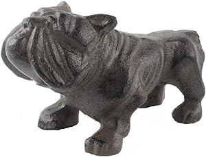Treasure Gurus Heavy Weight Cast Iron Bull Dog Metal Paperweight Bulldog Desk Guard Dog Figure