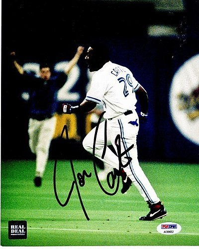 Joe Carter Autographed Signed Toronto Blue Jays 8x10 inch Photo PSA/DNA Authentic