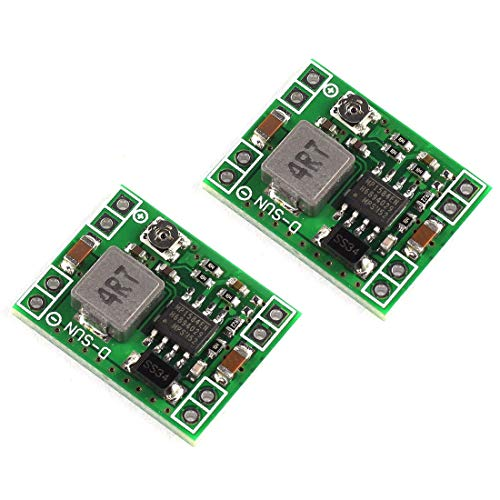 DZS Elec 2pcs MP1584EN Mini 3A DC-DC Buck Converter 4.5V-28V to 0.8V-20V Adjustable Voltage Regulator 24V/12V/9V to 12V/5V/3.3V Step-Down Power Module