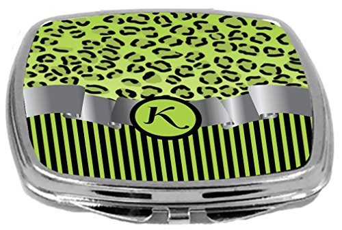 Rikki Knight Compact Mirror, Letter k Initial Lime Green ...
