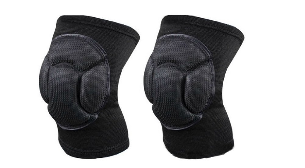 2PCS Thicken Knee Pads Brace Support Sleeve Sports Sponge Knee Guards Protective for Mountaineering Volleyball Martial Arts Kick Boxing Muay Thai Wrestling 1 Pair