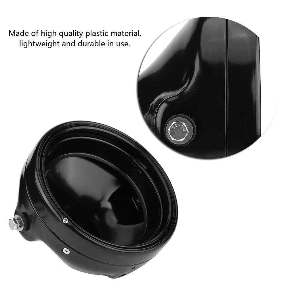 Bo/îtier de lampe + support + lampe H4 7 Pouces Phares de Moto LED Rond Phares /à LED Modifi/és Avec Bo/îtier de Lampe et Support de Phare 6500K Lumi/ère Blanche Froide