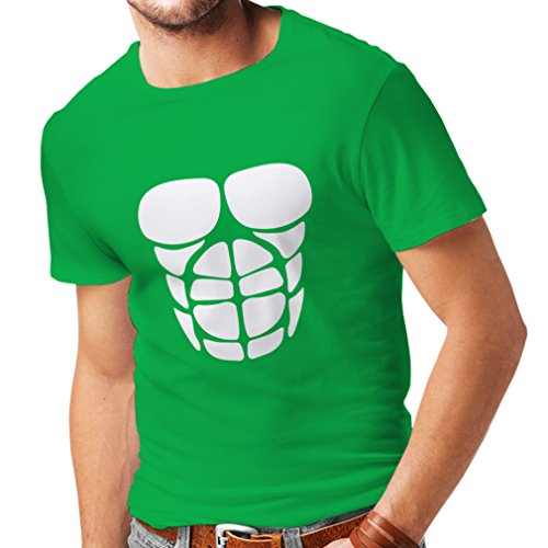 lepni.me T Shirts For Men For Your Muscle Growth - Funny Workout Shirts (Small Green White)