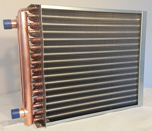 12 x 6 Water to Air Heat Exchanger 1'' Copper ports with Install Kit by Badgerpipe (Image #1)