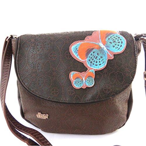 Bag creator 'Mundi'brown (butterfly). - Mundi Brown Handbag