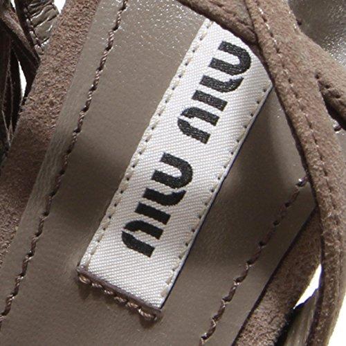 Shoes Sandali Women Frange Donna Tortora 8118I Sandals Scarpe Miu Miu 4wqx0WE6