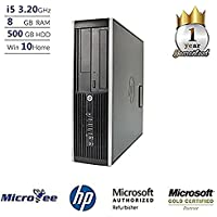 HP Desktop Elite 8300 SFF Core i5-3470 3.20GHz 8GB 500GB HDD DVD+RW Win 10 Home (Certified Refurbished)