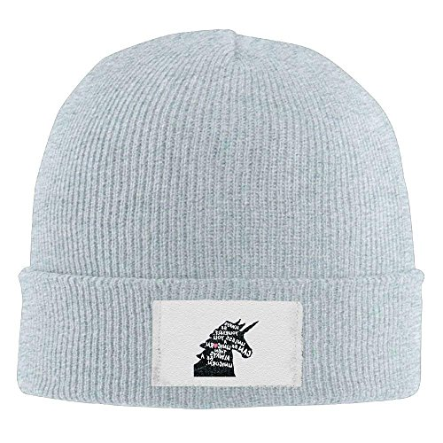A fboylovefor Knit Rib Be Elastic Always Unicorn Hats 292 Beanie Black wqXqE