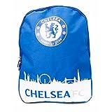 Chelsea FC Official Skyline Football/Soccer Crest Backpack/Rucksack (One Size) (Blue/White)