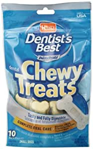 Dentist's Best 10Pk Chewy Treat, Traditional Bone