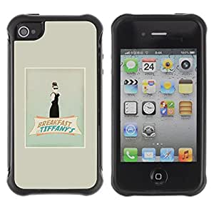 "Hypernova Defender Series TPU protection Cas Case Coque pour Apple iPhone 4 / iPhone 4S [Audrey Classic Film Película""]"