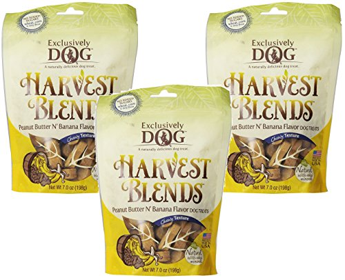 Blend Banana - (3 Pack) Exclusively Pet Harvest Blends Peanut Butter N Banana Flavored Treats, 7-Ounce Pouches