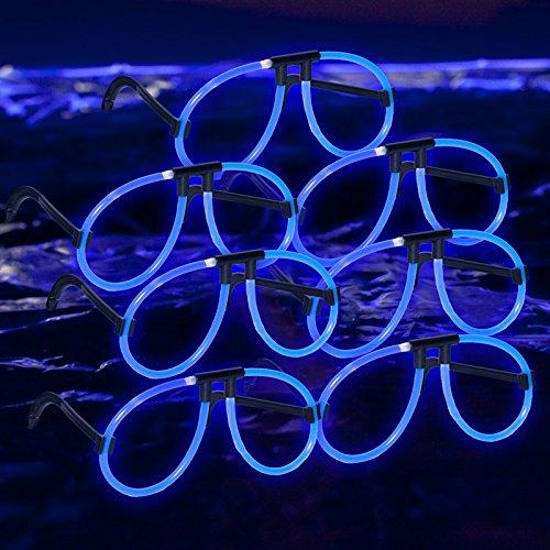 Glow Eyeglasses: Blue - Eyeglasses In Glow Dark The