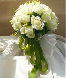 eea24815de7fd  Neustadt  ウェディングブーケ ブライダルフラワーに 清楚で かわいい 白い バラの 造花の