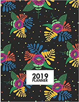 """Descargar Utorrent Para Android 2019 Planner: 8.5""""x11"""" Colorful Floral Weekly 2019 Planner Yearly Agenda Archivo PDF"""