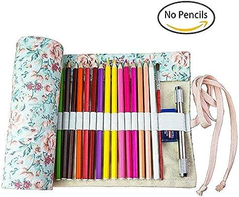 Ciaoed - Estuche enrollable para lápices, para 36 lápices de ...