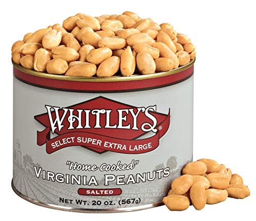Whitleys Salted Virginia Peanuts 20 Ounce Tin (Peanuts Extra Large)