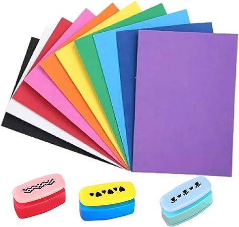 YOFASEN 3pcs Mini Paper Punch + 10pcs Pegatina De Lentejuelas De ...