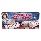 Little Debbie Red, White, and Blueberry Creme Rolls - 4 Pack