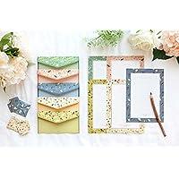 Funcoo - 48jolies feuilles de papier à lettre avec 24enveloppes + 1planche d'autocollants à sceller Style-2(7.1x5.2 inch)