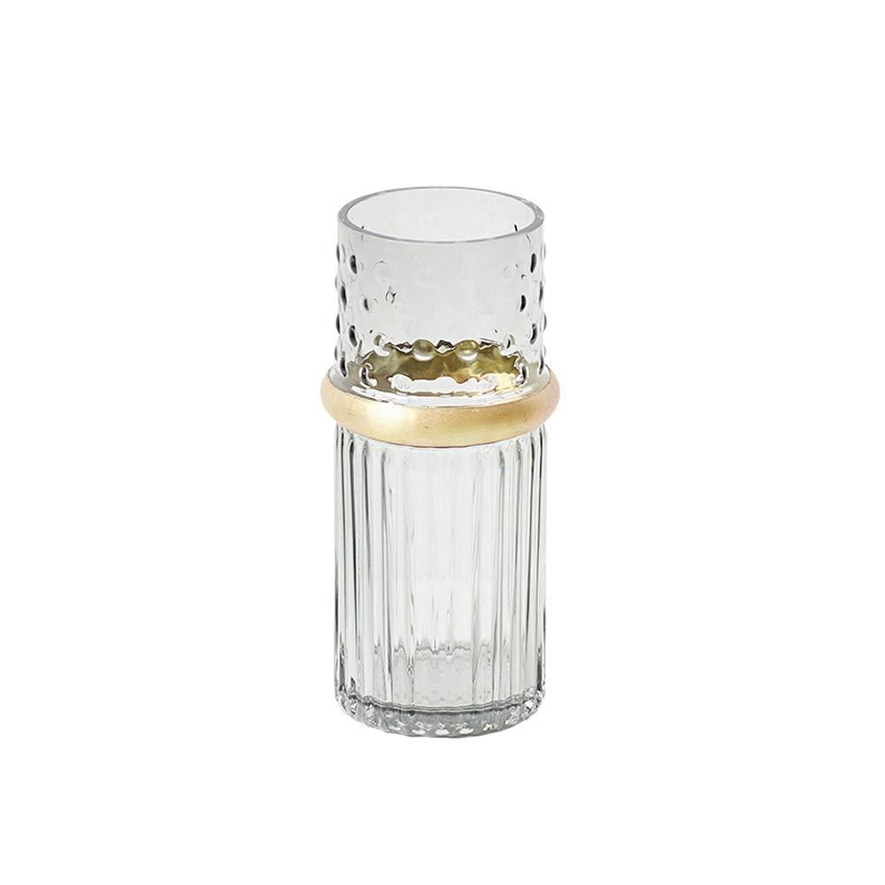 色ガラス花瓶用花緑植物結婚式の植木鉢装飾ホームオフィスデスク花瓶花バスケットフロア花瓶 (サイズ さいず : L l) B07R9RT853  L l