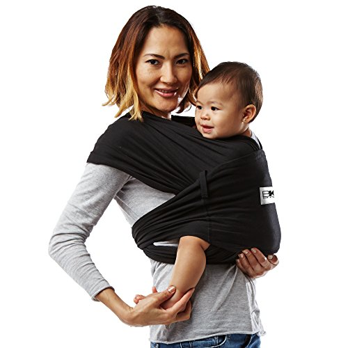 Baby K'tan ORIGINAL Baby Carrier, Black Stretch Cotton (XS) by Baby K'tan (Image #13)