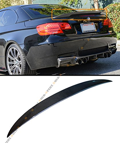 FOR 2007-2012 BMW E93 3 SERIES & E93 M3 CONVERTIBLE HIGH KICK PERFORMANCE STYLE CARBON FIBER TRUNK SPOILER WING (2009 Bmw M3 Convertible)