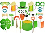 St Patrick's Photo Booth Props Party Decorations Photo Booth Props Irish Day Mustaches,No DIY Required